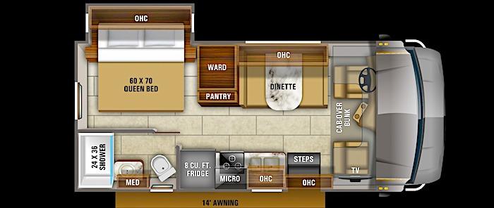 Jayco Redhawk 22J floor plan