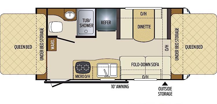 Keystone RV Bullet 1650EX Crossfire floor plan