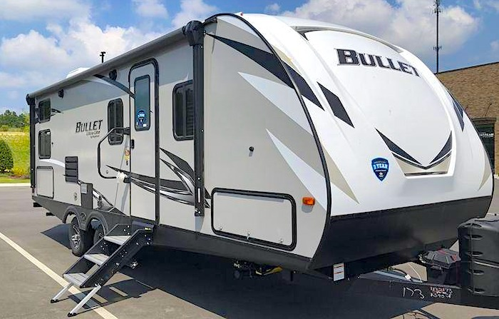 Keystone RV Bullet 243BHS camper trailer with bunk beds