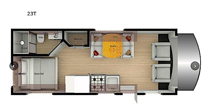 Nexus RV Triumph 23T floor plan