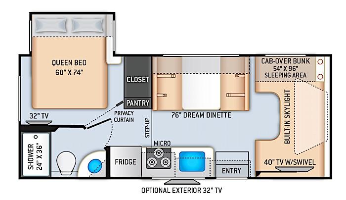 Thor Motor Coach Quantum GR22 floor plan