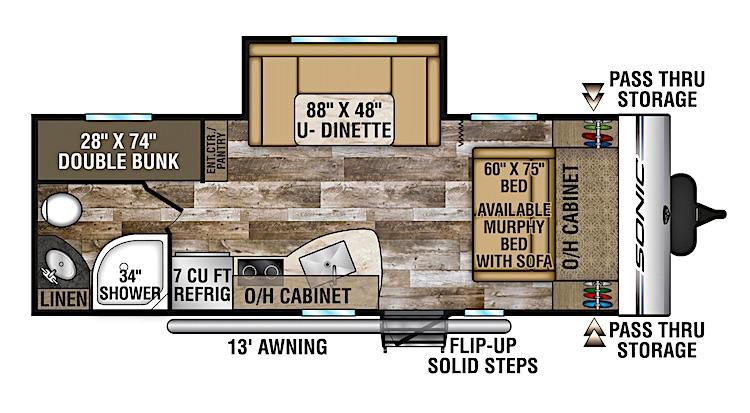 Venture SONIC SN220VBH floor plan