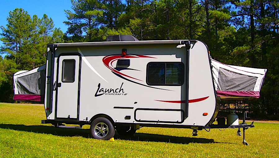 Hybrid Travel Trailer with both ends open