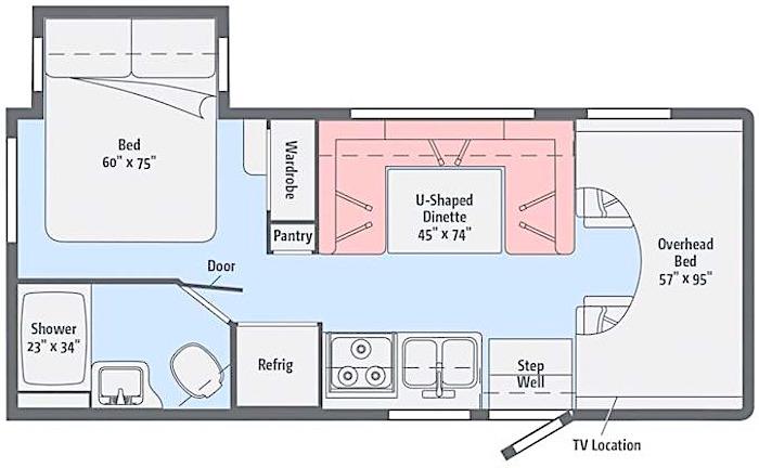 Winnebago Minnie Winnie 22M floor plan