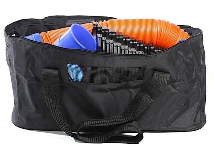 sewer hose bag storage