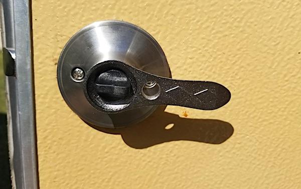 Universal camper door lock