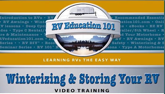 Winterizing and Storing Your RV