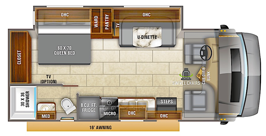 Entegra Class C RV Under 30 feet floorplan