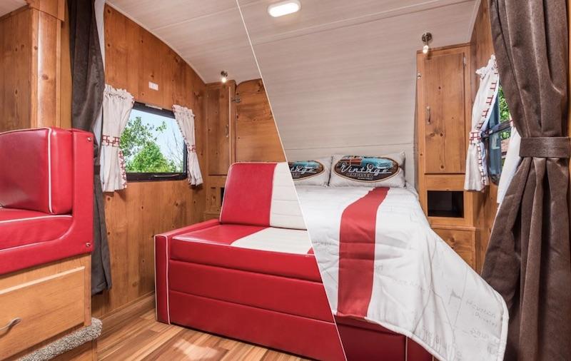 Gulf Stream Vintage Cruiser 23BHS Interior murphy bed