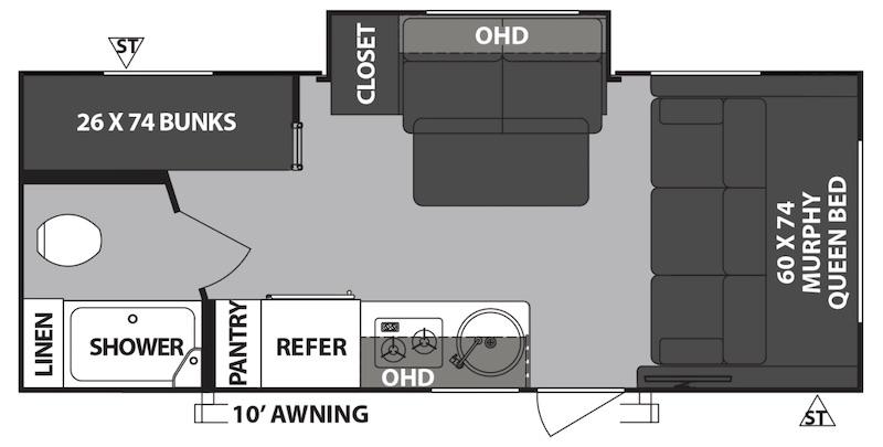 R-Pod RP-193 floor plan