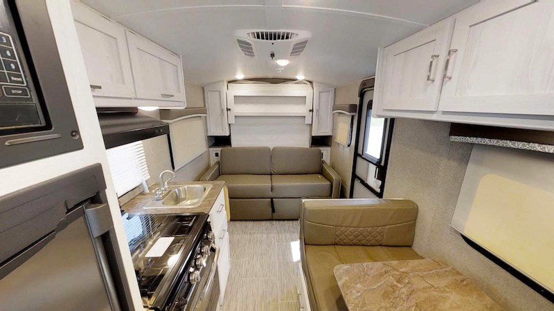 Rockwood Geo Pro G19FD travel trailer with murphy bed