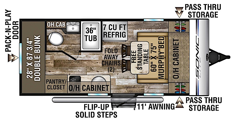 Venture RV Sonic Lite SL169VBH floor plan