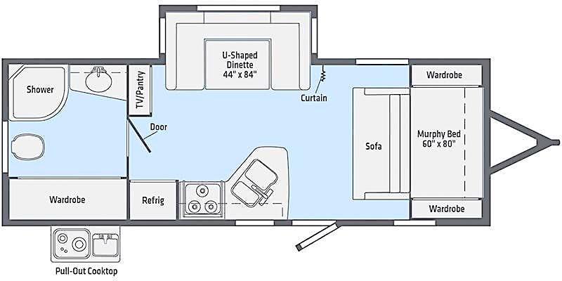 Winnebago Minnie 2201MB murphy bed floor plan
