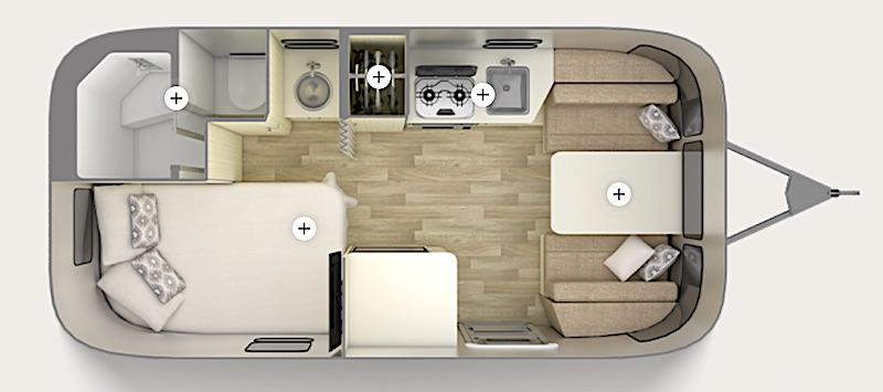 Airstream Bambi Floor Plan