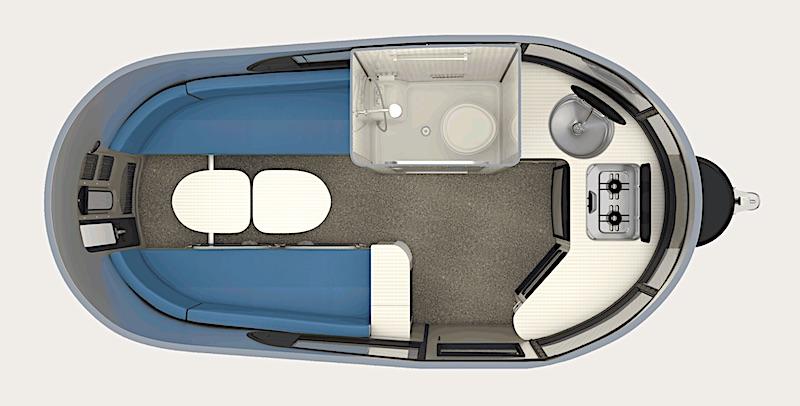 Airstream Basecamp Floor Plan