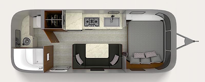 Airstream Caravel Floor Plan