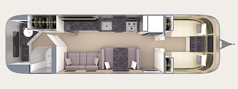 Airstream Classic Floor Plan