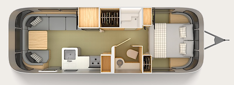 Airstream Globetrotter Floor Plan