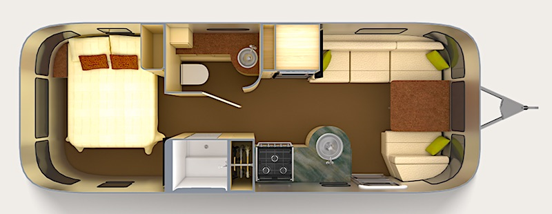 Airstream International Serenity Floor Plan