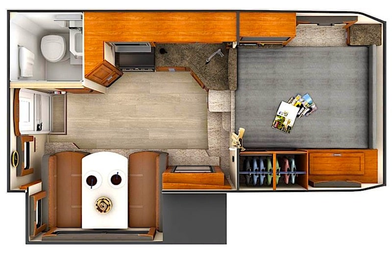 Lance 995 camper for cold weather floor plan