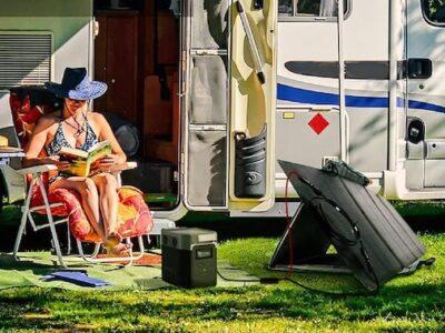 Ecoflow Delta 1300 portable solar generator for rv camping