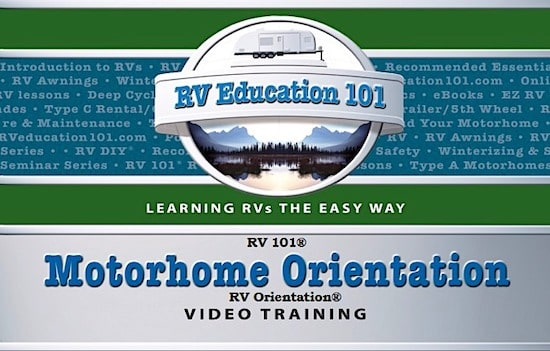 motorhome orientation video training course