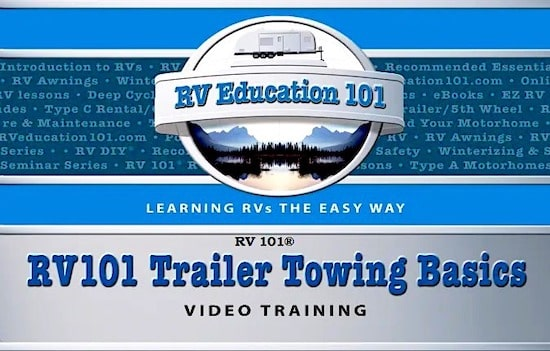 travel trailer towing course