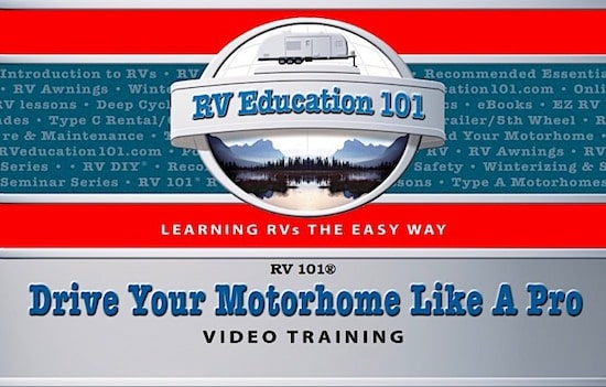 how to drive your rv motorhome video training course