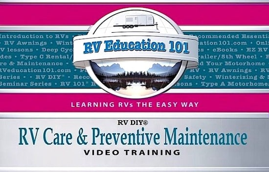 care and maintenance RV training course