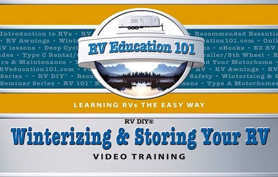how to winterize your RV video training course