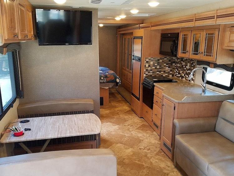 Class A RV Motorhome Rental Yosemite