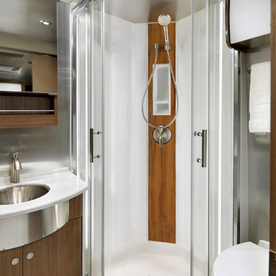 Class B RV Dry Bath in Airstream Atlas