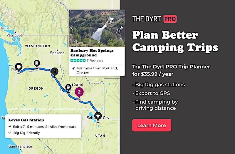 Dyrt pro trip planner