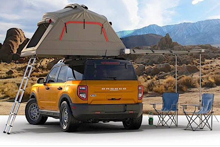 Ford Bronco Sport with roof top tent