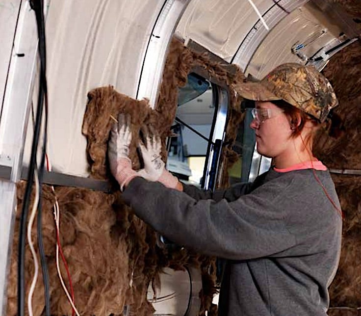 airstream interior wall insulation