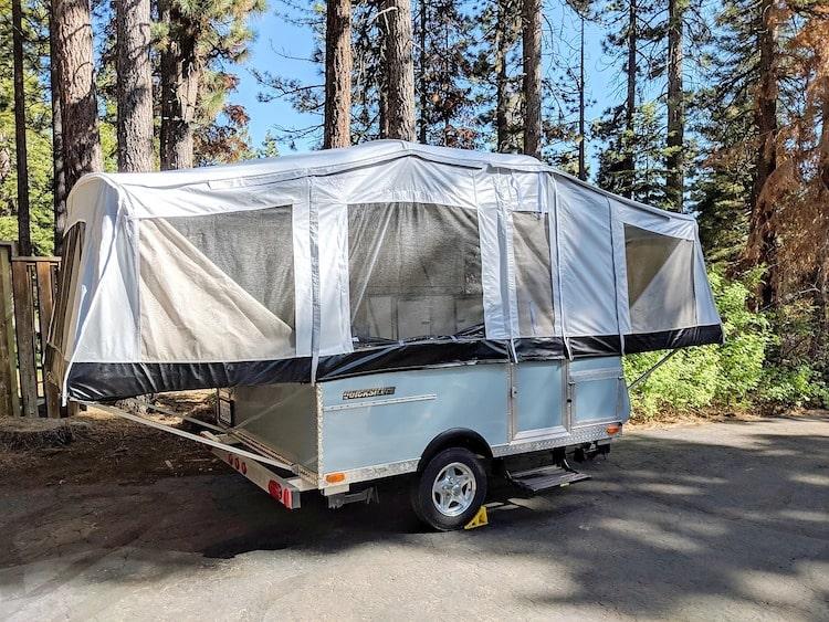 popup camper rental yosemite