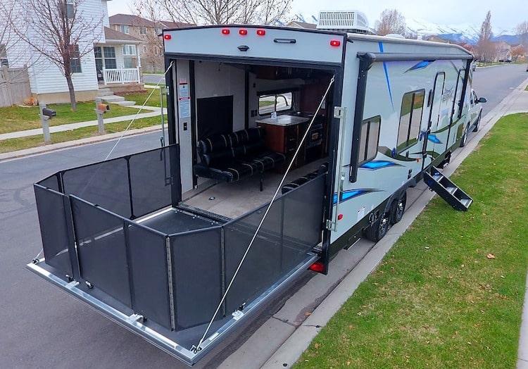 toy hauler trailer rental yosemite