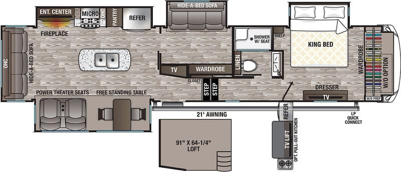 Best Forest River Cedar Creek 5th Wheel Floor Plan
