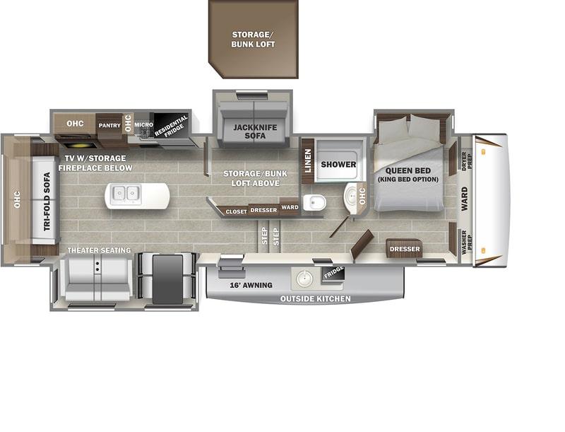 Best Forest River Sabre 5th Wheel Floor Plan