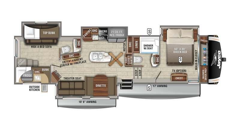 Best Jayco Eagle 5th Wheel Floor Plan