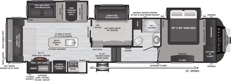 Best Keystone Sprinter Unlimited 5th Wheel Floor Plan
