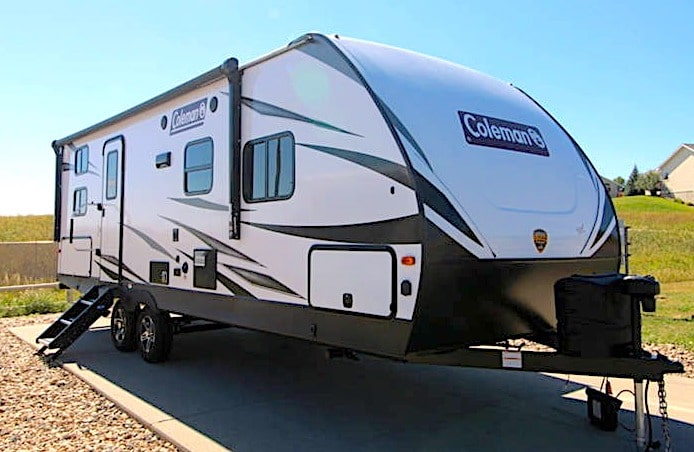 Coleman Light 2455BH large travel trailer under 7000 lbs