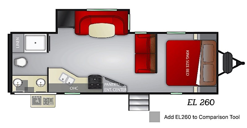 Cruiser RV Embrace EL260 floor plan