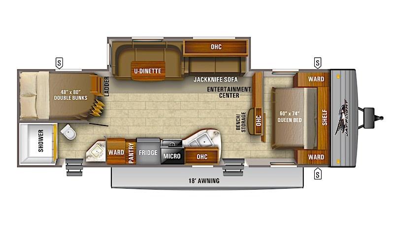 Jayco Jay Flight SLX 287BHS floor plan