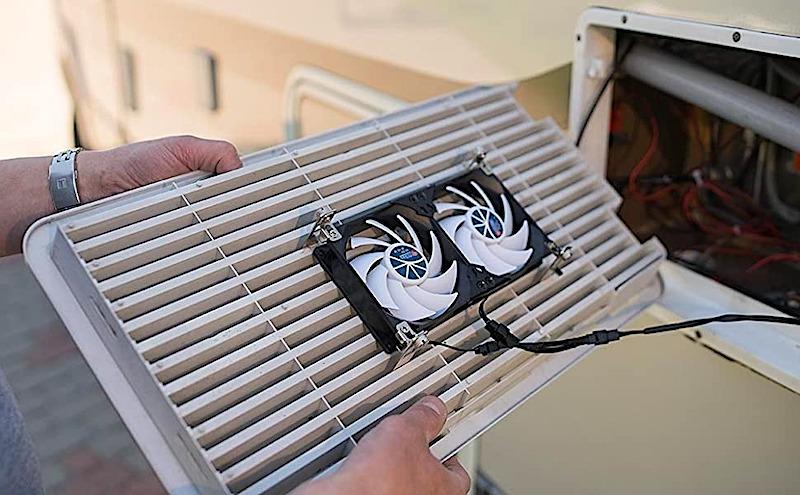 RV Refrigerator Exterior Ventilation Fans