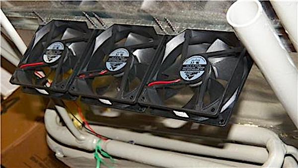 RV fridge vent fan