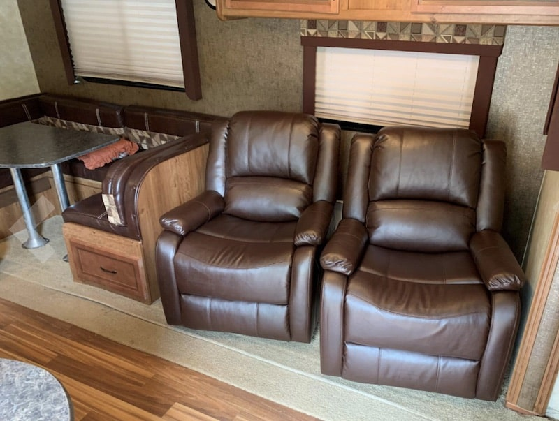 RecPro Charles Collection 30 inch Swivel Glider RV Recliner