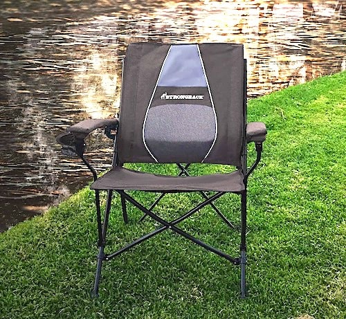 STRONGBACK Elite Folding Camping Lounge Chair Heavy Duty