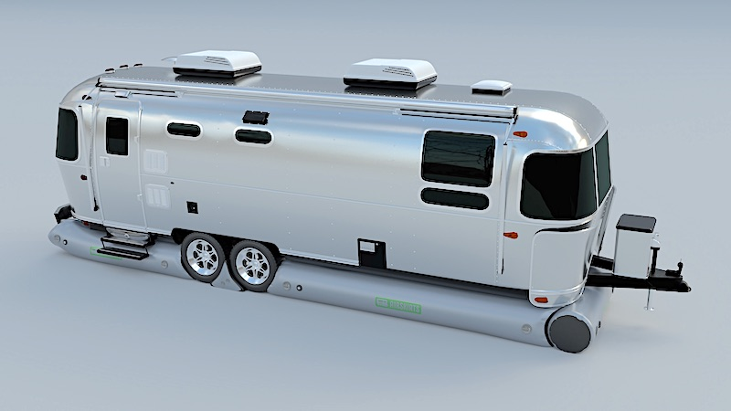 AirSkirt around airstream trailer