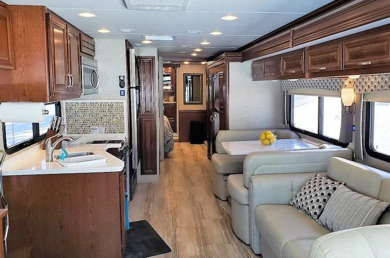 Class A RV Missoula RV Rental Interior